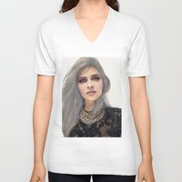 xoxo V-neck T-shirts featuring XOXO by Sara Eshak