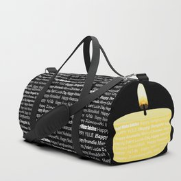 Happy Holidays Candle Duffle Bag