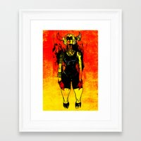 spanish Framed Art Prints featuring Spanish Bull by Eric Bonhomme