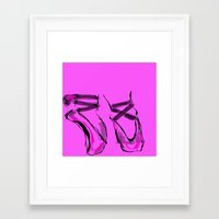 ballerina Framed Art Prints featuring Ballerina by Art Corner