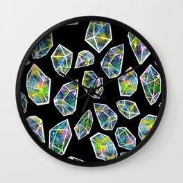 Cosmic Crystals Wall Clock