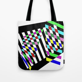 Lost Dimension - Abstract 3D style, multicoloured, geometric artwork Tote Bag