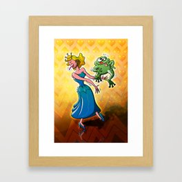 Disgusting Kiss for a Princess Framed Art Print