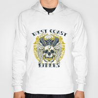 west coast Hoodies featuring West Coast Riders by Tshirt-Factory