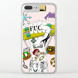Skate Justice Clear iPhone Case