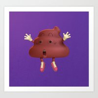 poop Art Prints featuring Poop by Adrián Sandá