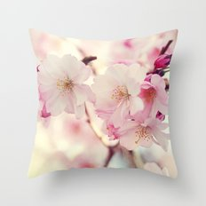 cotton candy flowers Throw Pillow