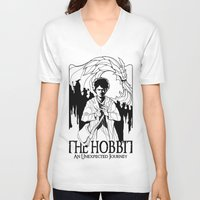 the hobbit V-neck T-shirts featuring The Hobbit by LinhBR