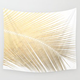 Palm leaf - gold Wall Tapestry