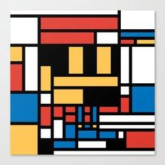 Super Mondrian Canvas Print