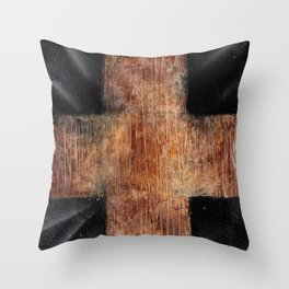 The Cross - Spray Paint Art Throw Pillow