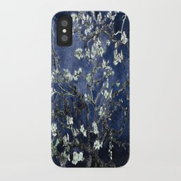 Vincent Van Gogh Almond Blossoms Dark Blue iPhone Case