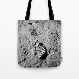 Apollo 11 - First Footprint On The Moon Tote Bag