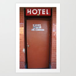 Main Entrance of Imperial Hotel in Lodi, CA Art Print
