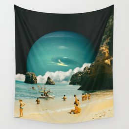 Space Beach Wall Tapestry