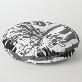 Shades Of Grey Floor Pillow