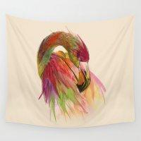 birds Wall Tapestries featuring birds  by mark ashkenazi