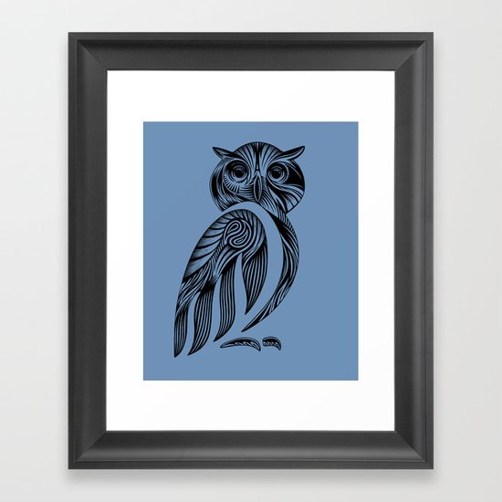 Tribal Owl Framed Art Print