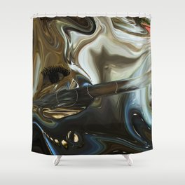 Imagine what is in your mind Shower Curtain