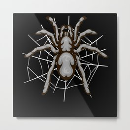 Tarantula Spider In The Cobweb Gift Metal Print