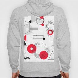 Constructivism Red Geometric Lines Hoody