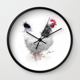 Light Sussex Hen Wall Clock