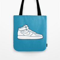 nike Tote Bags featuring #13 Nike Airforce 1 by Brownjames Prints