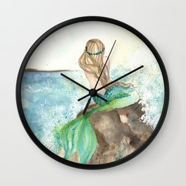 Summer Mermaid Wall Clock
