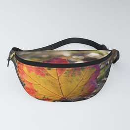 Autumn Maple Leaf with Bokeh Background Fanny Pack