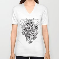 monsters V-neck T-shirts featuring monsters by Teenn