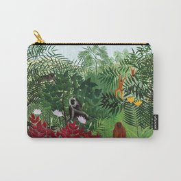 Henri Rousseau - Tropical Forest with Monkeys Carry-All Pouch