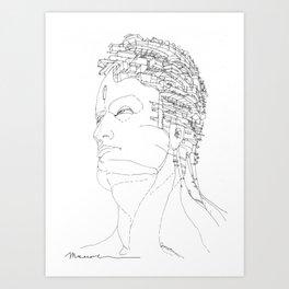 Ritratto di Fantasia Art Print