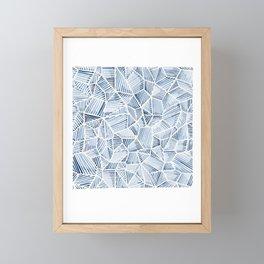 Indigo Abstract Facet Framed Mini Art Print