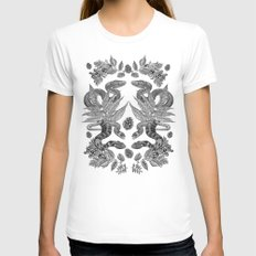 Serpent's Choir MEDIUM White Womens Fitted Tee
