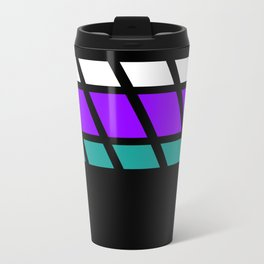 Team Colors 4..Aqua, purple Travel Mug