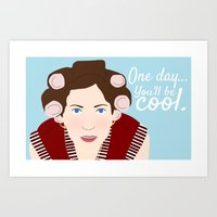 """almost famous Art Prints featuring Almost Famous """"One Day, You'll Be Cool"""" by DeanFred Rex"""