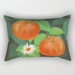 Branch Of Mandarin Orange Rectangular Pillow