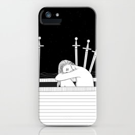 Four of Swords iPhone Case