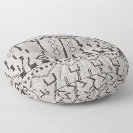 N7 | Original Moroccan Brown Artwork Floor Pillow