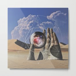Holy Hand Metal Print