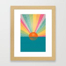 Magical sunset. Framed Art Print