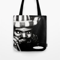 reggae Tote Bags featuring Reggae DJ by Mr Shins