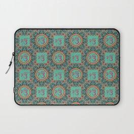 Ek Onkar / Ik Onkar  Oriental Pattern on Teal Laptop Sleeve