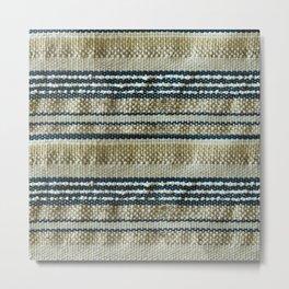Handmade weaving background Metal Print