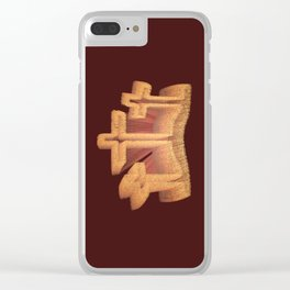 Three Crosses at Calvary Clear iPhone Case