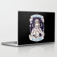 ahs Laptop & iPad Skins featuring Mystic Miss Maggie Esmerelda (b&w) by marziiporn