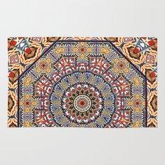 Pottery Tile Kaleidoscope Rug