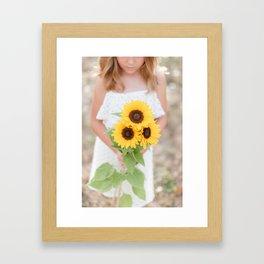 Sunflower Days Framed Art Print