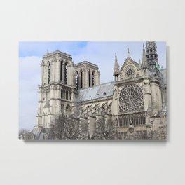 Notre-Dame across the Seine Metal Print