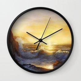 Cornish Sunset Seascape Wall Clock